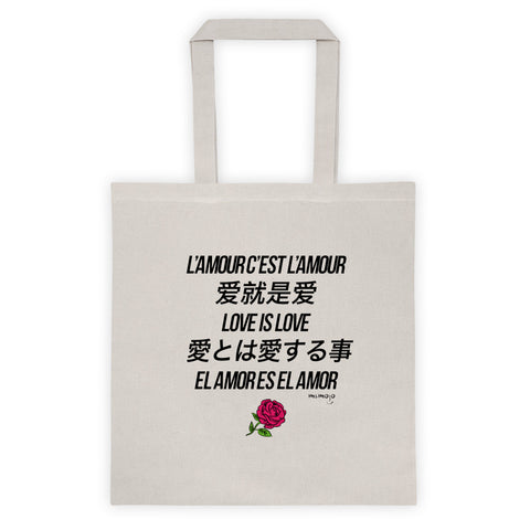 Love is Love Black Tote bag