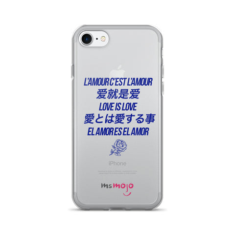 Love is Love Blue iPhone 7/7 Plus Case