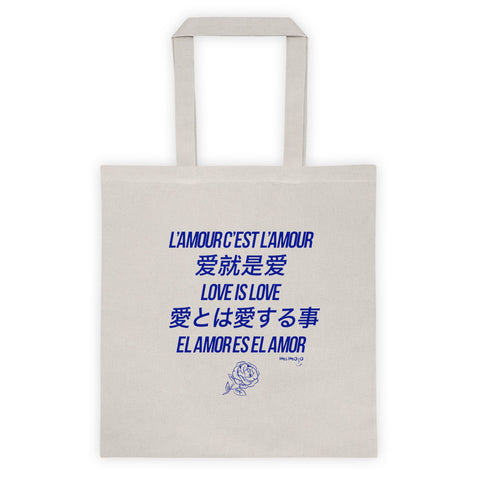 Love is Love Blue Tote bag