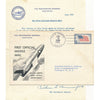 USS Barbero 1959 FLOWN rocketmail cover