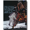 Charlie Duke signed 8x10 Apollo 11 glossy annotated first words spoken