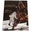 Charlie Duke signed 12x15 Apollo 11 Capcom first words spoken