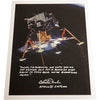 "Charlie Duke signed 12x15 Apollo 11 ""Eagle"" first words spoken"