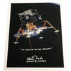 "Charlie Duke signed 12x15 Apollo 11 ""Eagle"" ""We copy you..."""