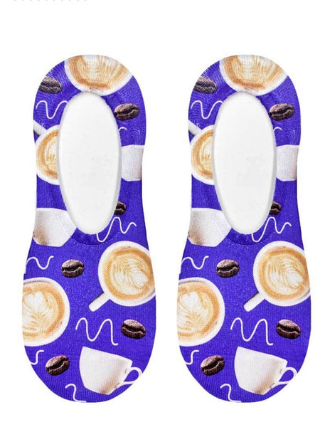 Coffee Lover No Show Sock