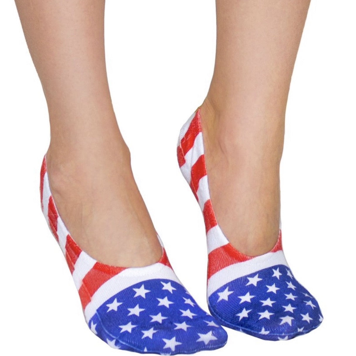 Stars And Stripes No Show Sock
