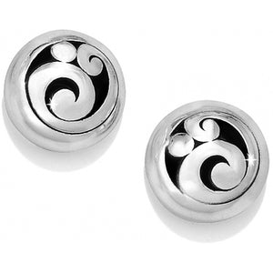 Silver Contempo Post Earrings