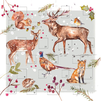 NEW, just arrived. Winter wildlife single Advent card.