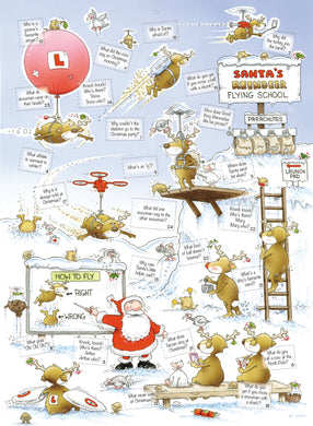 Santa's reindeer flying school