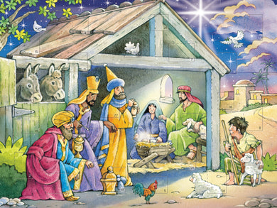 Nativity Advent card