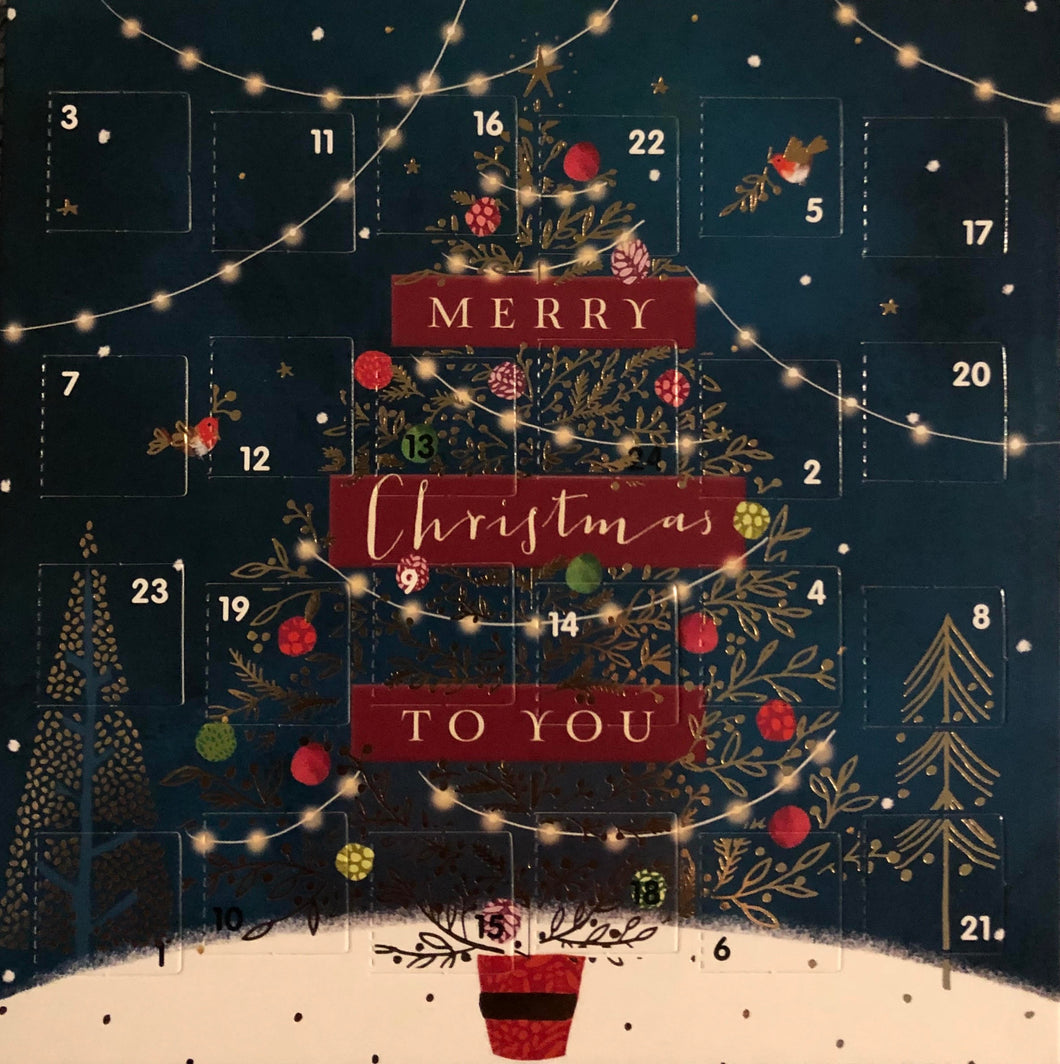 Christmas tree single Advent card