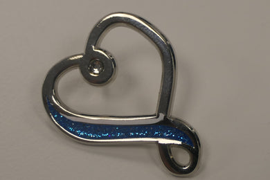 Parkinson's UK infinity heart brooch with crystal - Parkinson's shop