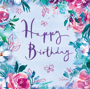 Parkinson's UK 'Happy birthday - floral' card. (5 pack) - Parkinson's shop