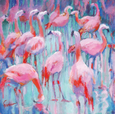 Parkinson's UK 'Pretty flamingos' cards (5 pack) - Parkinson's shop