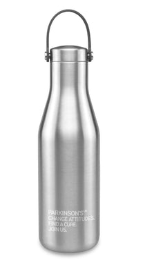 Ohelo for Parkinson's UK stainless steel bottle. Reduced for clearance.