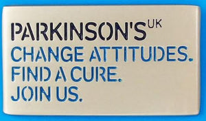 Parkinson's UK logo pin - Reduced for clearance.