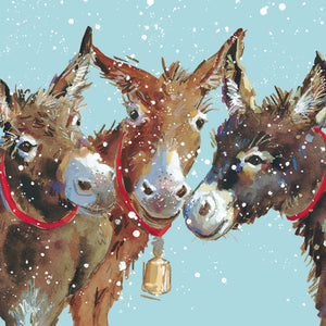 Parkinson's UK 3 donkeys charity Christmas cards