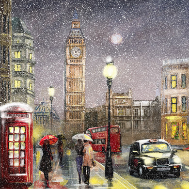 Parkinson's UK Snowy Westminster charity Christmas cards