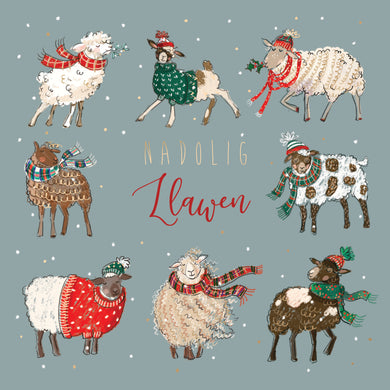 Parkinson's UK Winter woolies bilingual charity Christmas cards