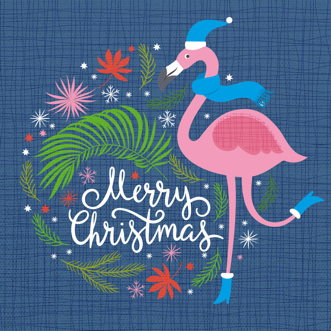 Parkinson's UK Festive flamingo charity Christmas cards