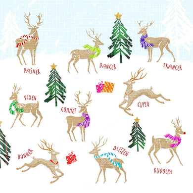 Parkinson's UK All the reindeer charity Christmas cards