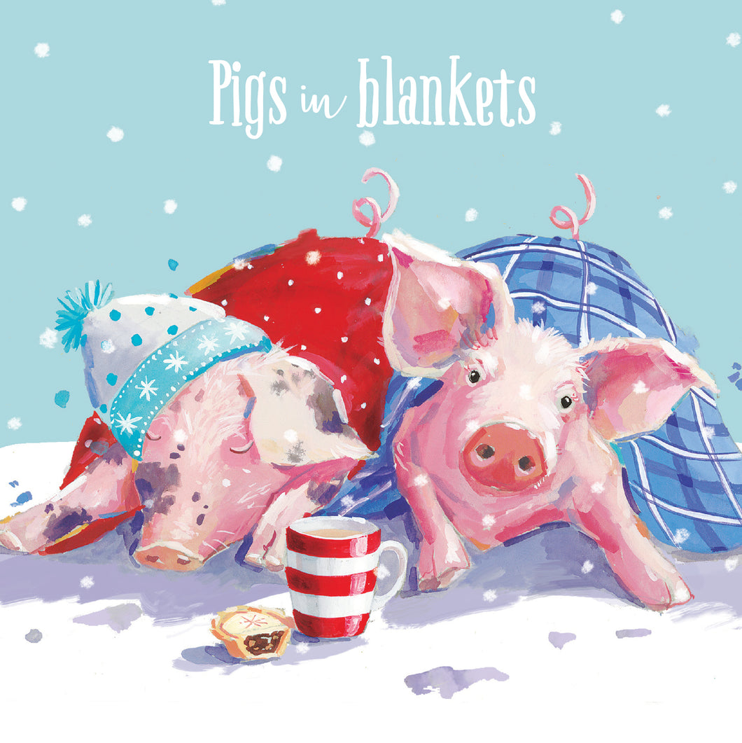 Parkinson's UK Pigs in blankets charity Christmas cards