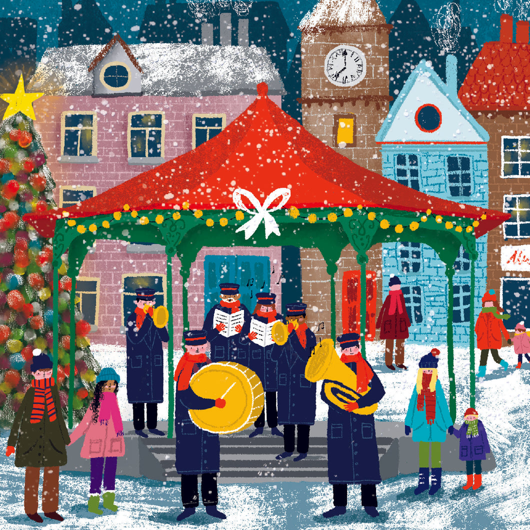 NEW. Brass band charity Christmas cards.