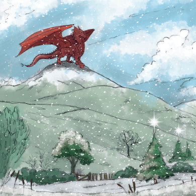 Parkinson's UK Surveying the valley charity Christmas cards with bilingual greeting