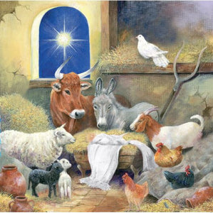 Parkinson's UK Animals at the manger charity Christmas cards