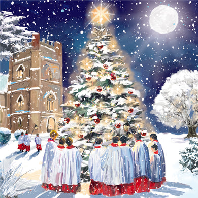 Parkinson's UK Choir at the tree charity Christmas cards