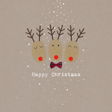 Parkinson's UK Reindeer fingerprint charity Christmas cards
