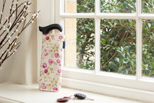 Adjustable walking stock with bag - Mulberry rose. Reduced for clearance.