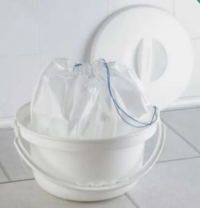 Disposable liners for woven commode