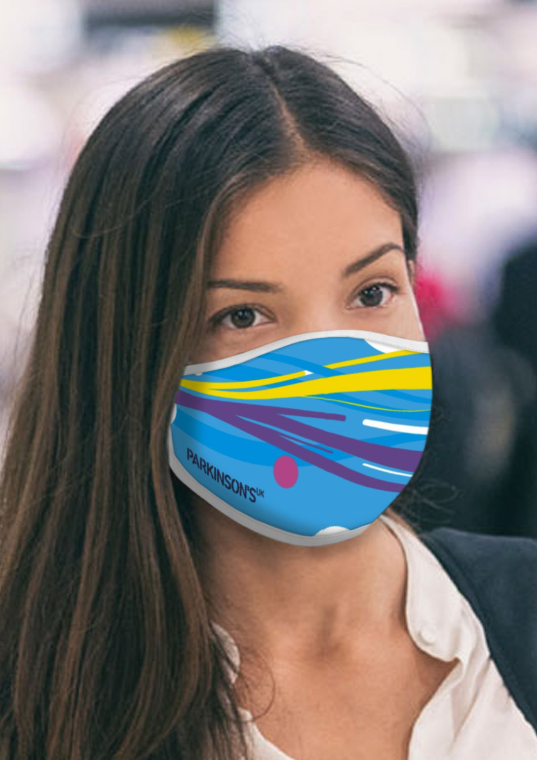 Parkinson's UK face mask with ties