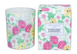 Elderflower and grapefruit scented candle