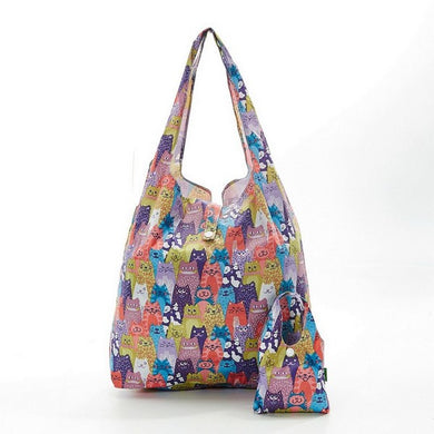 Cat design foldaway shopper