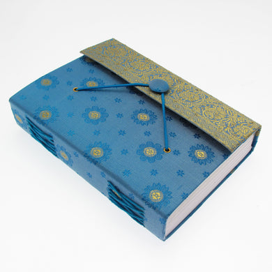 Fair trade eco-friendly sari journal with khadda cotton paper