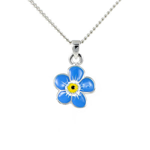 Pretty blue flower pendant
