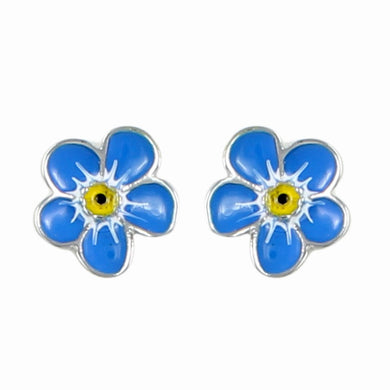 Pretty blue flower earrings. Reduced for clearance.