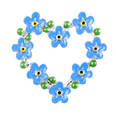 Pretty blue flower brooch