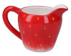 Strawberry cream jug