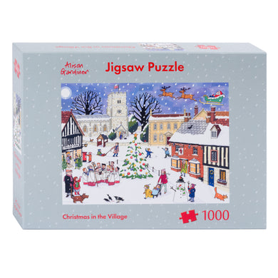 Christmas village jigsaw puzzle by Alison Gardiner