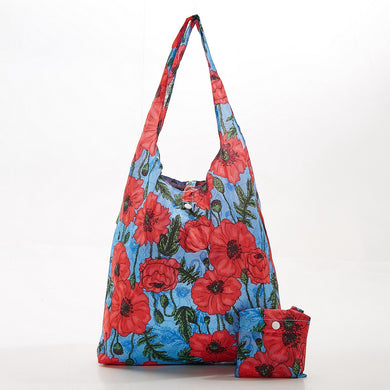 Foldaway shopper with storage pouch - flower