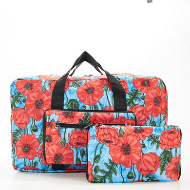 Folding holdall - flower. Reduced for clearance.