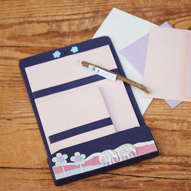 Eco-friendly elephant dung stationery set
