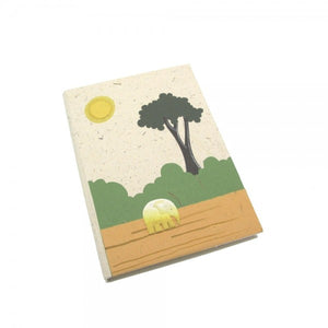 Eco-friendly elephant dung notepad.