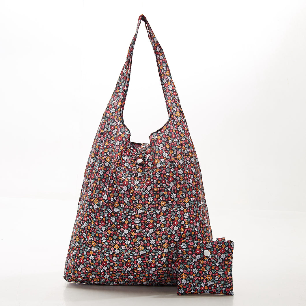 Foldaway shopper with storage pouch