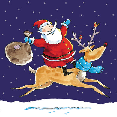 Parkinson's UK Santa and Rudolph charity Christmas cards