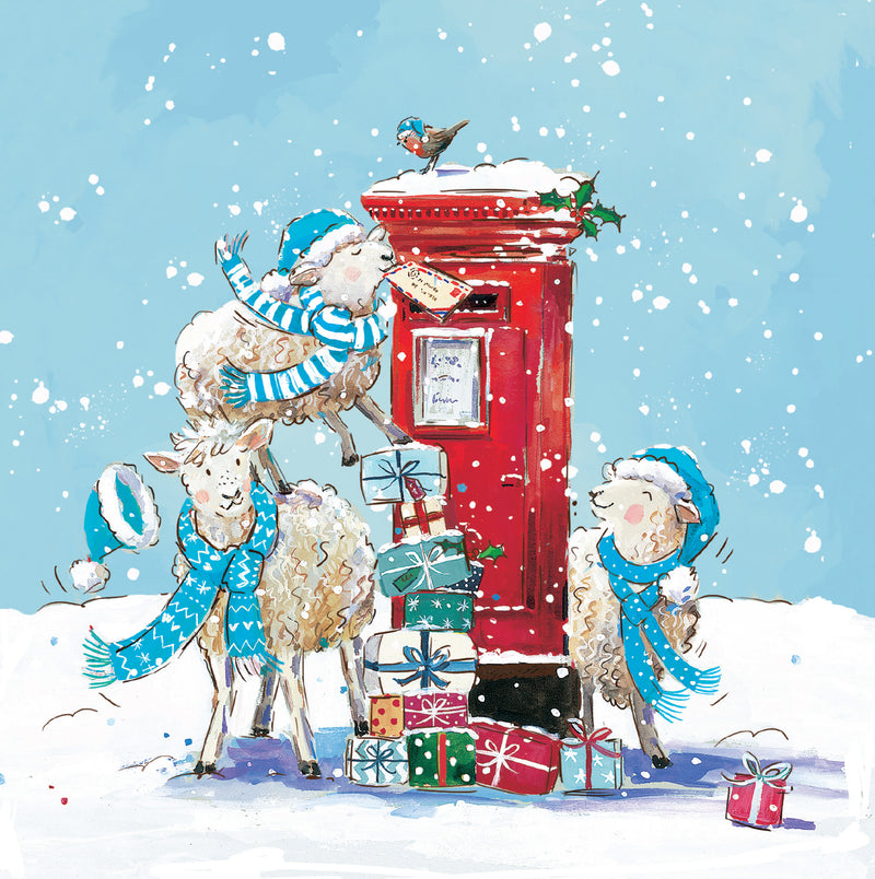 Special Post\' Lambs and Postbox | Charity Christmas Cards from ...