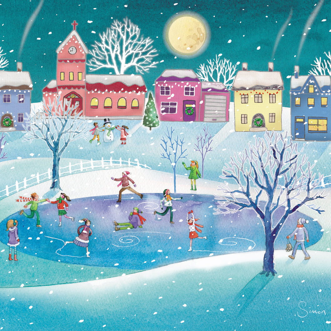 Winter fun charity Christmas cards